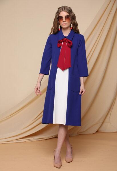 שמלה כחול לבן