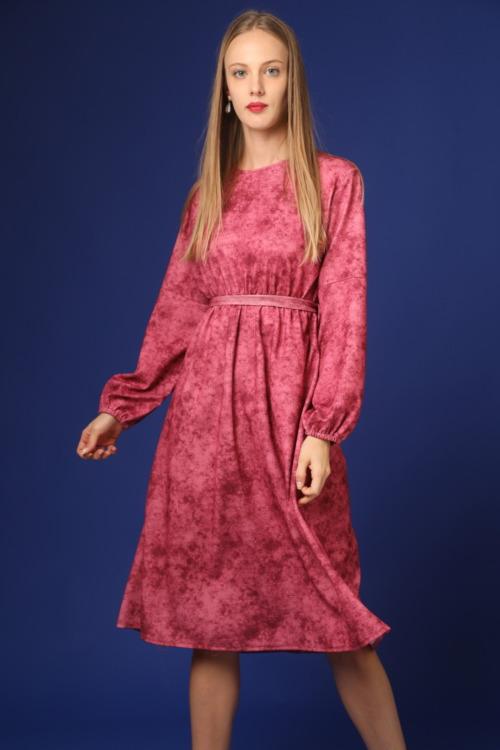 שמלה צנועה ורודה